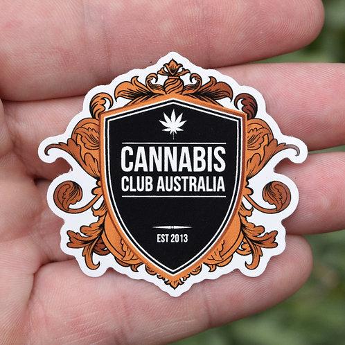 CCA (White Shield) Small Vinyl Sticker