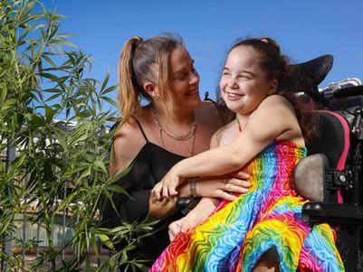 Mum's marijuana battle to keep Kaitlyn's pain at bay