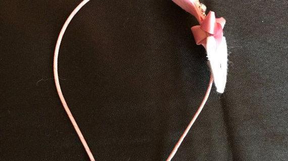 Adorable Pink Teddy Bear Headband with Sparkle