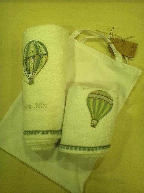 Σετ bebe πετσέτες μπάνιου μέσα σε θήκη βαμβακερή