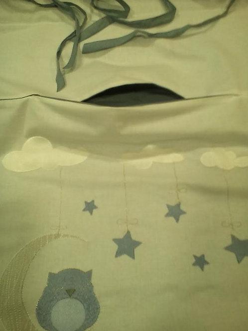 (Bebe) σάκος βαμβακερός άπλυτων ρούχων με κέντημα μηχανής