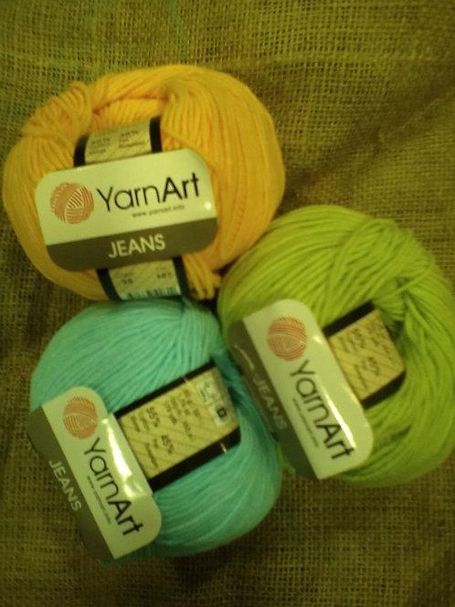 Jeans Yarn Art