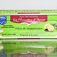 Mackerel Fillets w/ Lemon and Basil