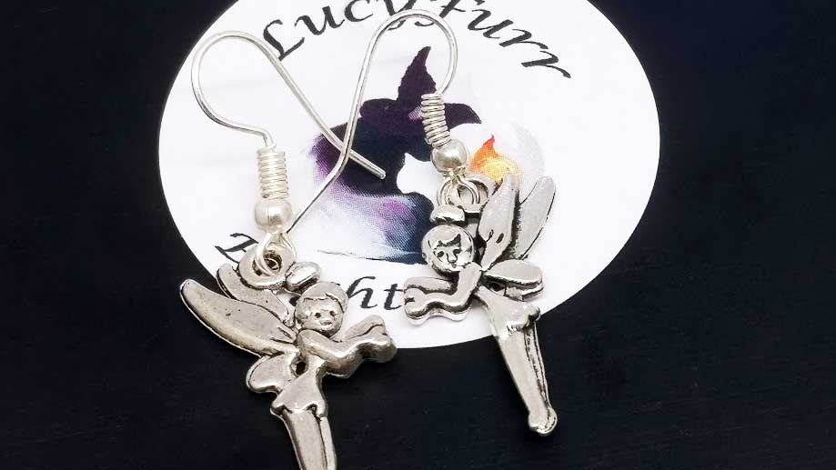 Fairies Tibetan Silver Earrings