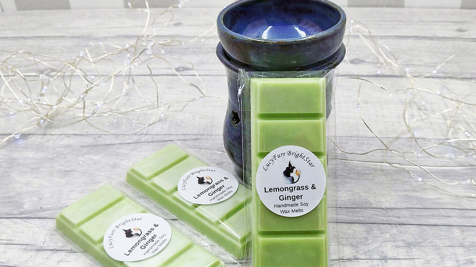 Lemongrass and Ginger Wax Melt Snap Bar