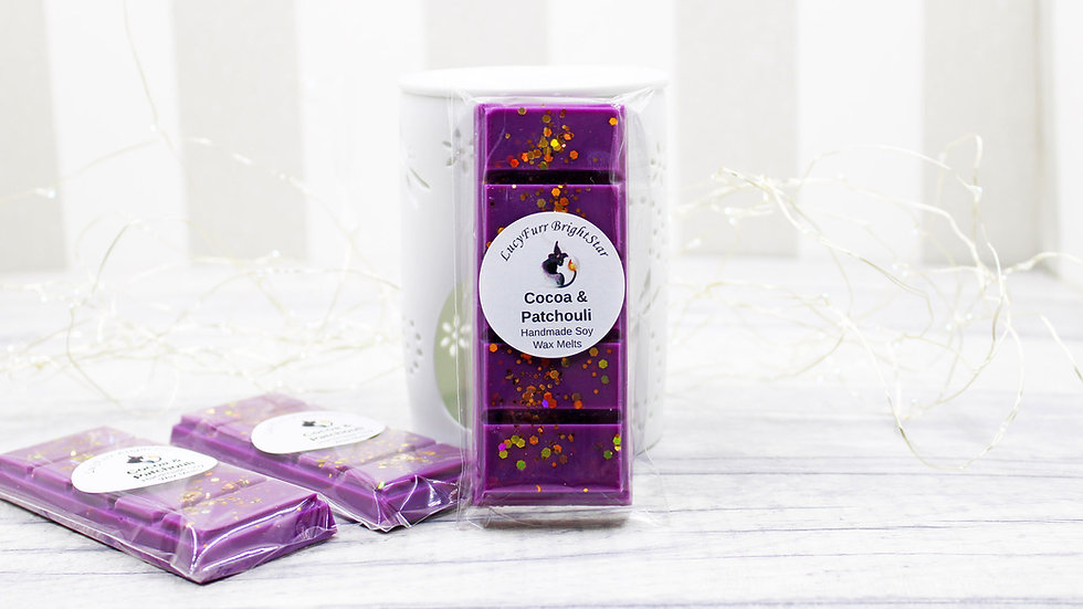 Cocoa and Patchouli Wax Melt Snap Bar