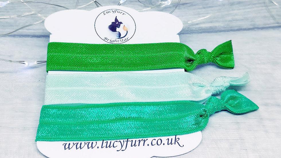 Green Hair Ties