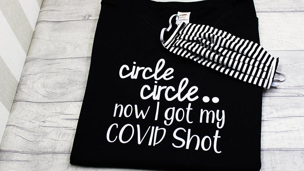 Circle Dot Covid Shot Cotton T-shirt