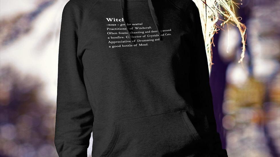 Witch Definition Cotton Hoodie