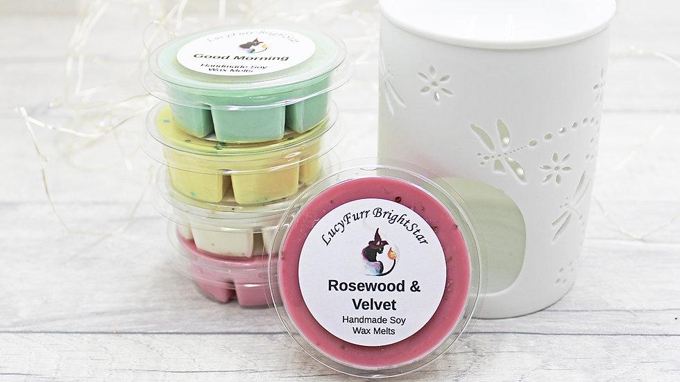 Rosewood and Velvet Segment Pot