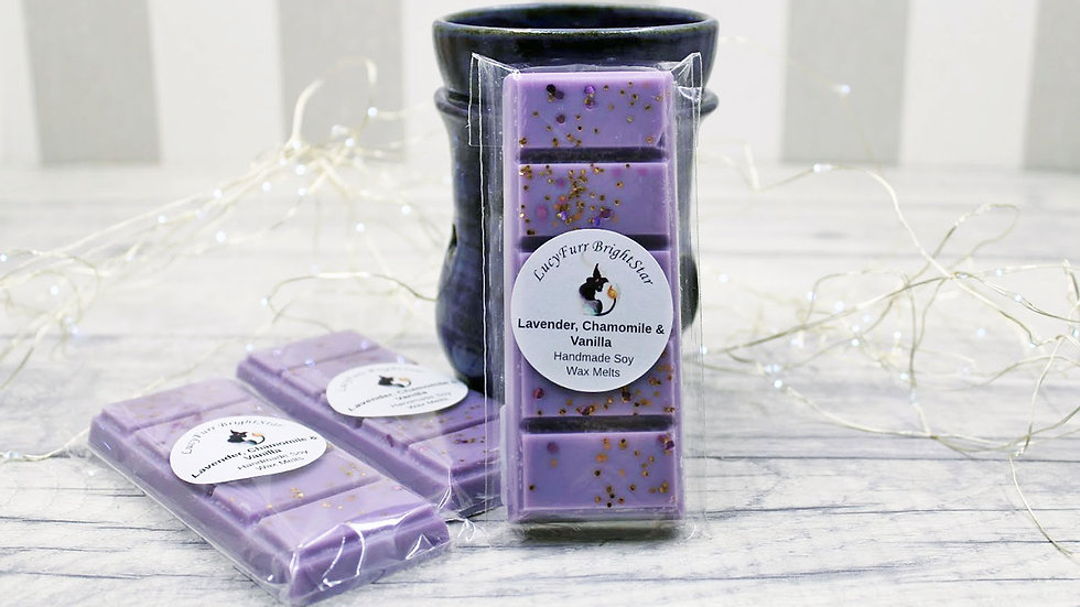 Lavender, Chamomile and Vanilla Wax Melt Snap Bar