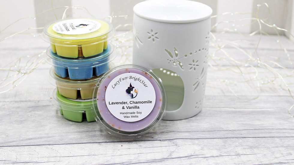 Lavender, Chamomile and Vanilla Segment Pot