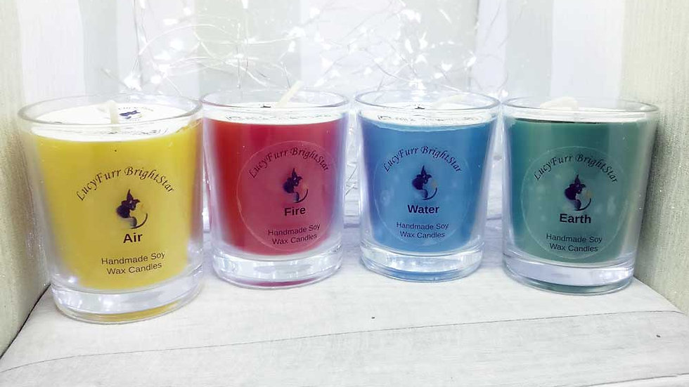 Set of 4 Elemental Container Candles