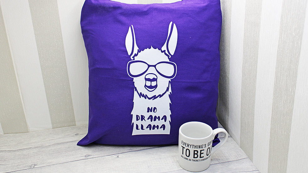 No Drama Llama Cotton Tote Bag
