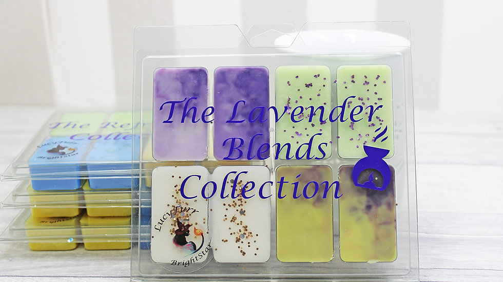 Lavender Blends Collection Soy Wax Melt Clamshell