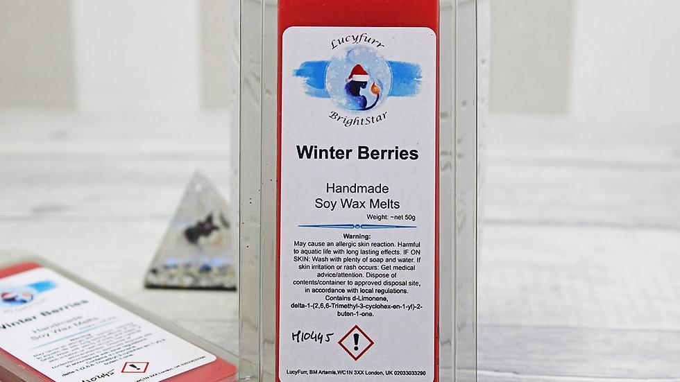 Winter Berries Wax Melt Snap Bar