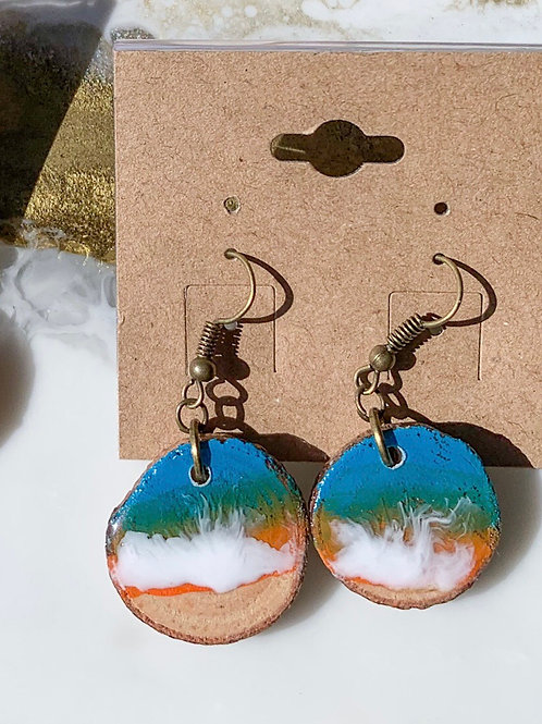 Teal & Blue Ocean Earrings
