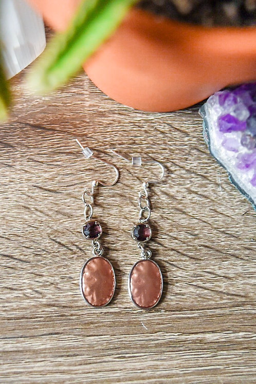 Pink & Purple Dangle Earrings