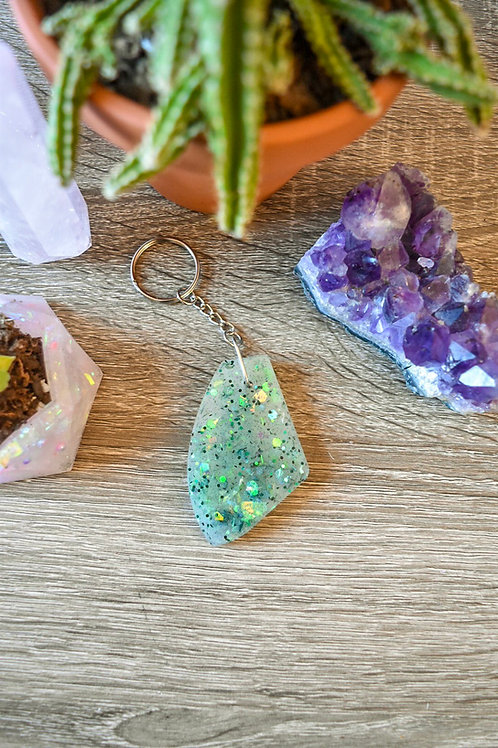 Green Psychedelic Keychain