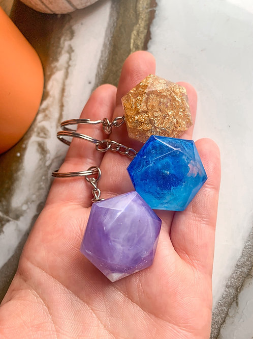 Hexagon Keychains