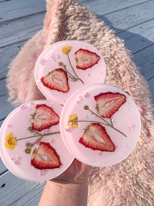 Strawberry Milk Coasters