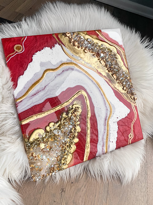 Red & Gold Geode