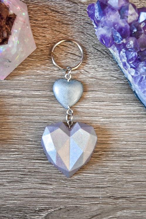 Holo Hearts Keychain