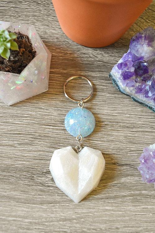 White Dangly Heart