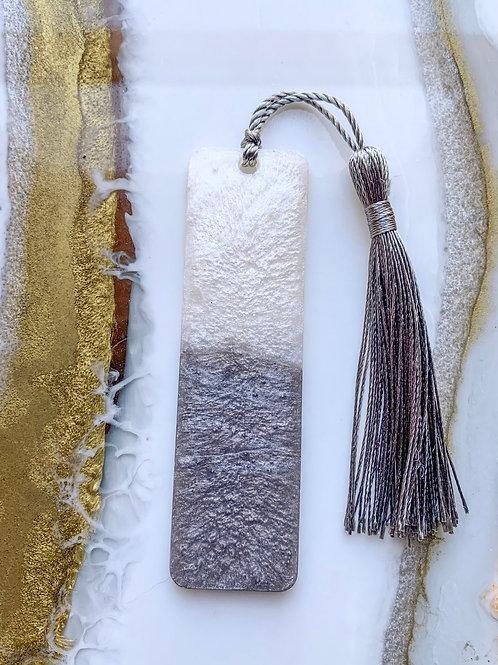 Silver & White Bookmark