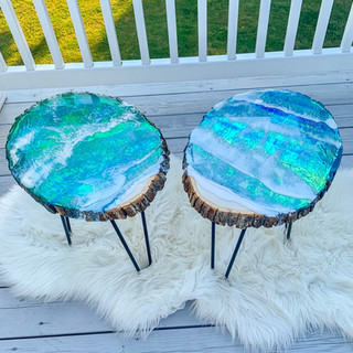 Holographic Ocean Table Set