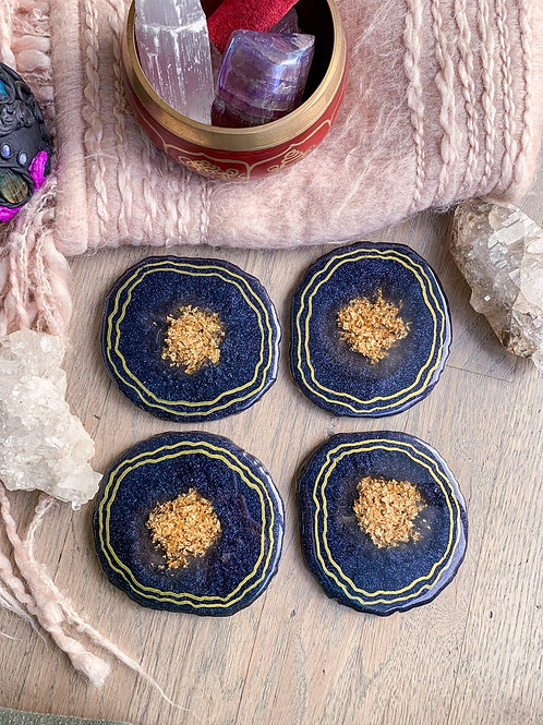 Sparkly Geode Coasters