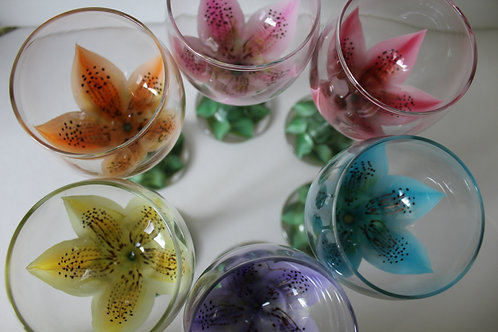 MULTICOLOR wine glasses, set of 6