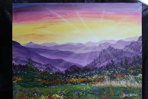 """PURPLE MOUNTAINS"" oryginal"