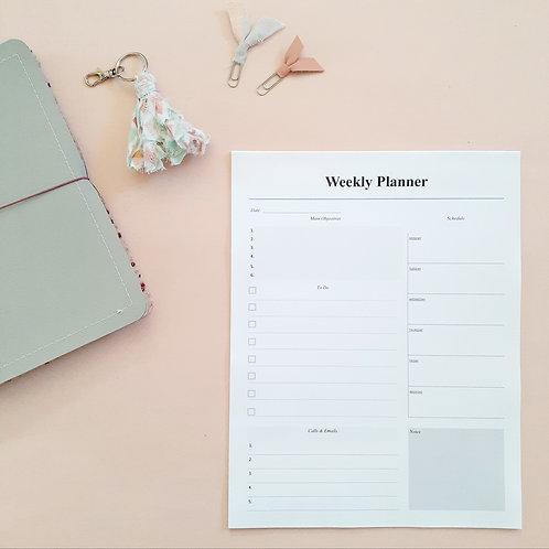 Weekly Planner Tearaway Notepad