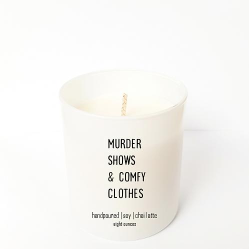 """"""" comfy clothes"""" 8 oz Candle"""