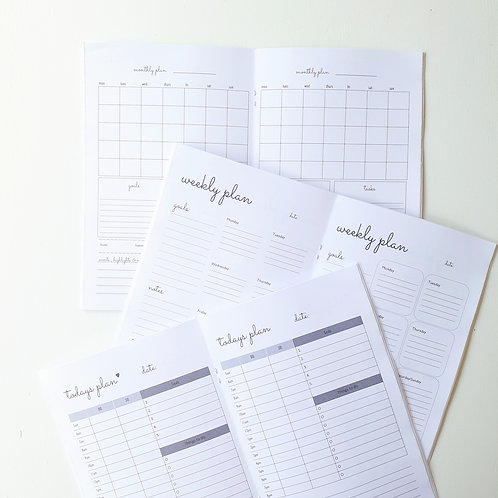The Essentials - set of 3 planner notebooks | Daily | Weekly | Monthly