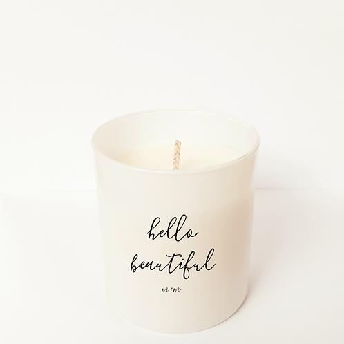 """Hello Beautiful"" 8 oz Candle"