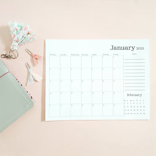Tearaway Monthly Calendar - 18 Month