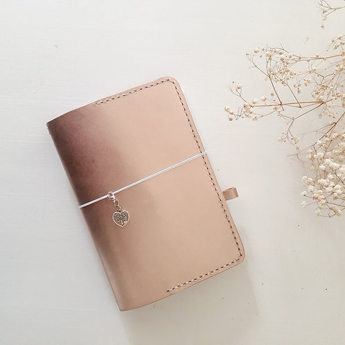 Rose Gold Leather Handcrafted Journal Cover