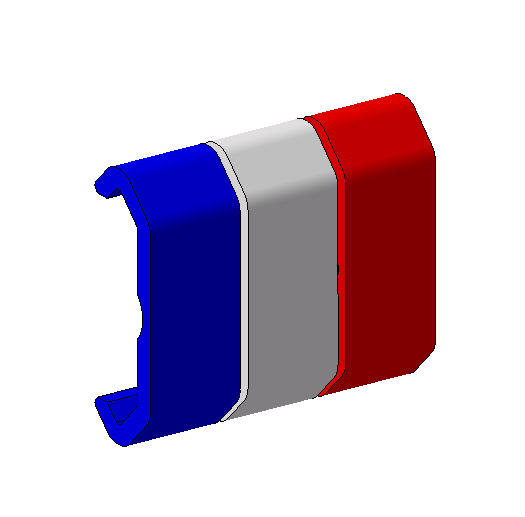 Caches rail Picatinny tricolore