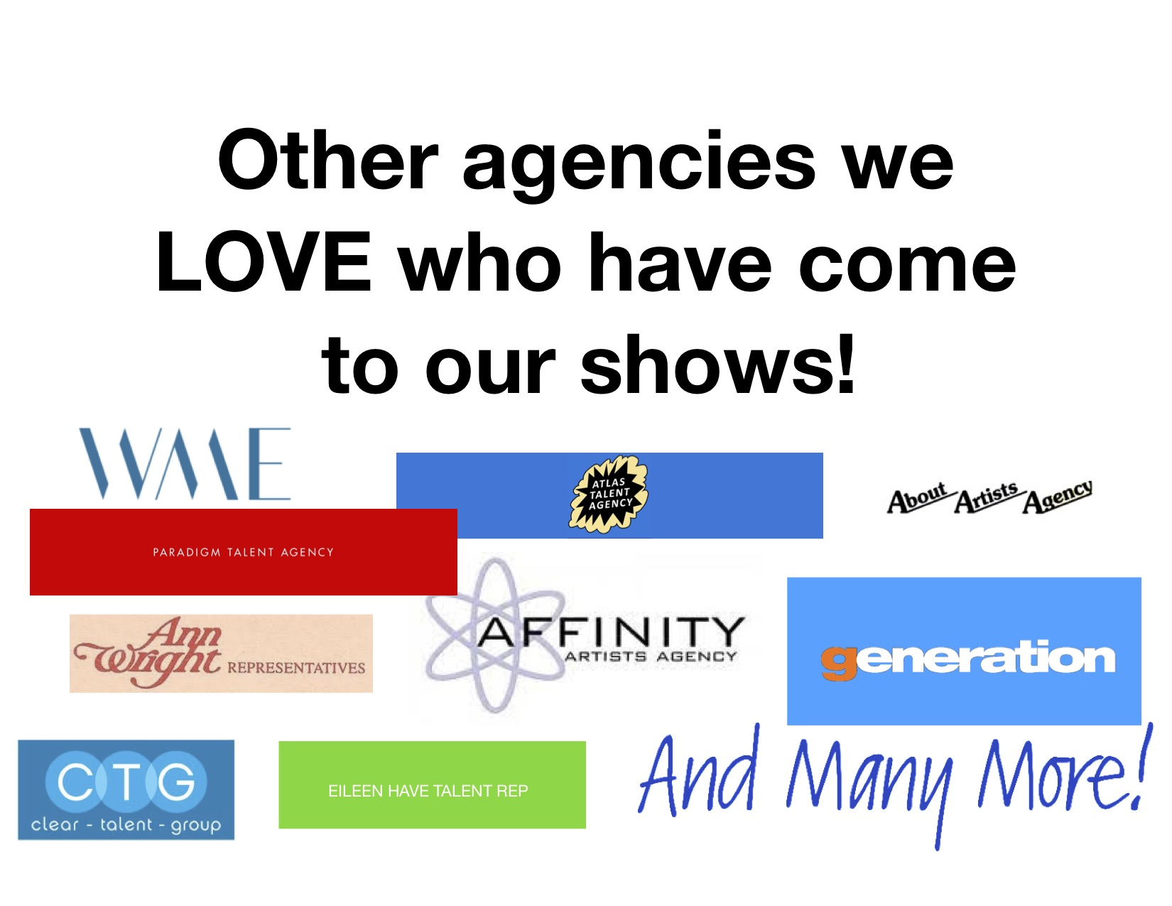 AGENCY WHO ATTENDED TAPNYC SHOWCASES