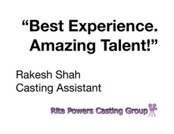 Rita Powers Casting Group Review of TAPN