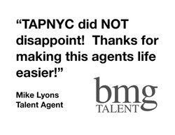 BMG REVIEW OF TAPNYC
