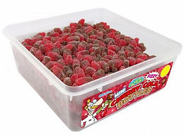 Crazy Candy Factory Mini Fizzy Cherry Cola Bottles Tub