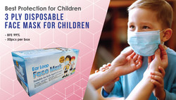 3ply Disposable Face Mask for Children