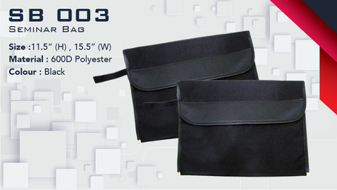 SB 003 - Seminar Bag