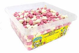 Crazy Candy Factory Strawberry Milkshake Bottles Tub