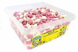Crazy Candy Factory Strawberry Milkshake Bottles Tub