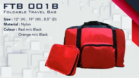 FTB 001B - Foldable Travel Bag