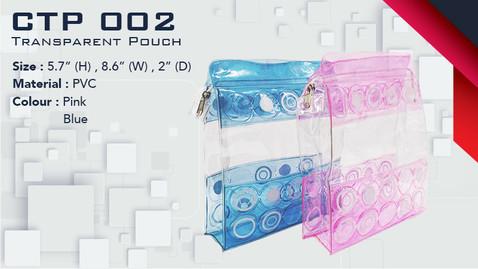CTP 002 - Transparent Pouch